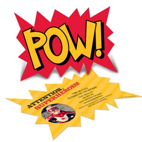 Calling All Superheroes Photo -- Kids Birthday Invitations