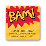 Calling All Superheroes! -- Kids Return Address Labels