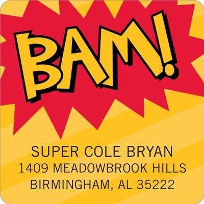 Calling All Superheroes! Kids Return Address Labels