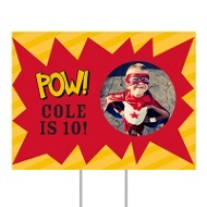 Calling All Superheroes Yard Sign Kids Party Decorations