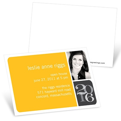 Blocked Year Mini Graduation Announcements