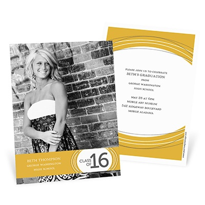 Vibrant Sketch -- Graduation Announcement Cards