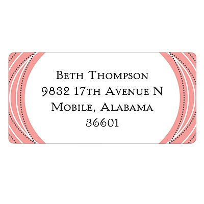 Vibrant Sketch -- Stylish Address Labels