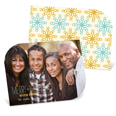 Vintage Flakes -- Horizontal Holiday Photo Cards