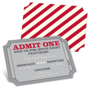 Admit One -- Movie Night Invitations
