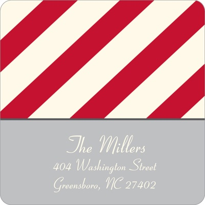Mesmerizing Stripes Custom Family Address Labels