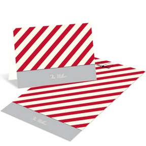 Mesmerizing Stripes -- Personalized Family Stationery