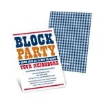 Giddy with Gingham -- Neighborhood Block Party Invitations