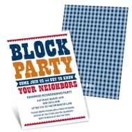 Giddy with Gingham Neighborhood Block Party Invitations
