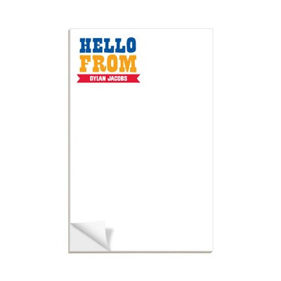 Block Letters Custom Notepads