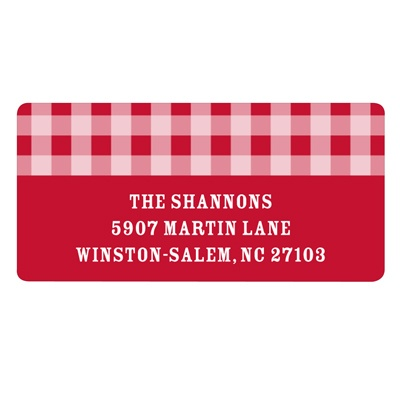 Giddy with Gingham -- Family Return Address Labels
