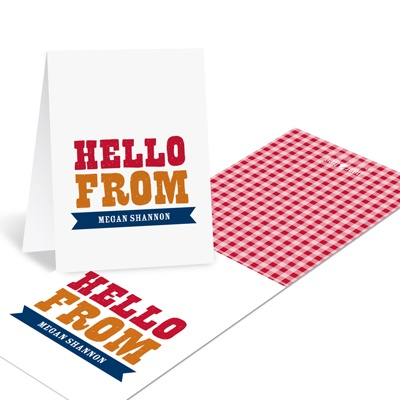 Giddy with Gingham Personalized Thank You Note Cards