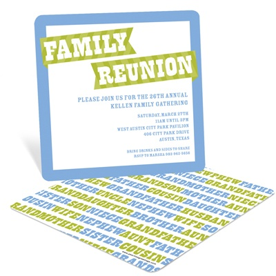 Family Rules Family Reunion Invitations