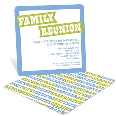Family Rules Family Reunion Invitations