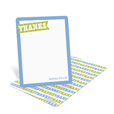 Patterned Thanks Creative Thank You Notes