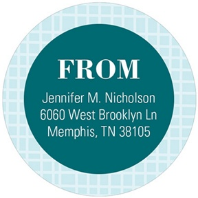 Circular Style -- Circular Address Labels