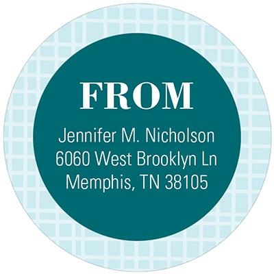 Circular Style Circular Address Labels
