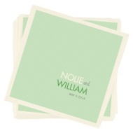 Color Block Beauty Personalized Beverage Napkins