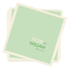 Color Block Beauty -- Personalized Beverage Napkins