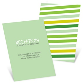 I Do Stripes -- Wedding Invitation Reception Cards