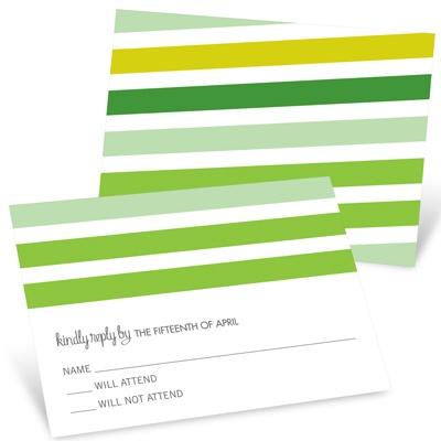 I Do Stripes Custom RSVP Cards