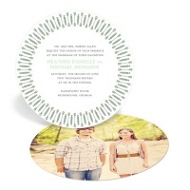 Symbolic Circles Wedding Invitations