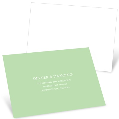 Simple Message -- Wedding Reception Cards