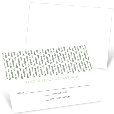 Symbolic Circles Wedding Response Cards