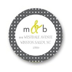 Patterned Perfection -- Monogram Address Labels