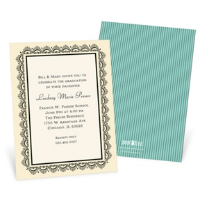 Lovely Lace -- Graduation Announcements