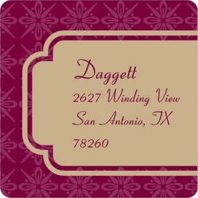Swirling in Style -- Graduation Address Labels