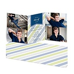 Transparent Stripes -- Photo Graduation Invitations