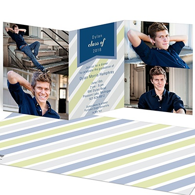 Transparent Stripes Graduation Announcements