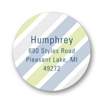 Transparent Stripes -- Circle Return Address Labels