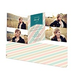 Muted Stripes -- Personalized Photo Graduation Invitations