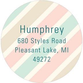 Muted Stripes -- Graduation Address Labels