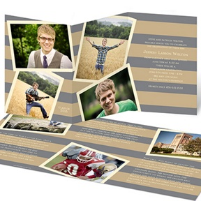Photo Storybook Tri-Fold -- Graduation Announcements
