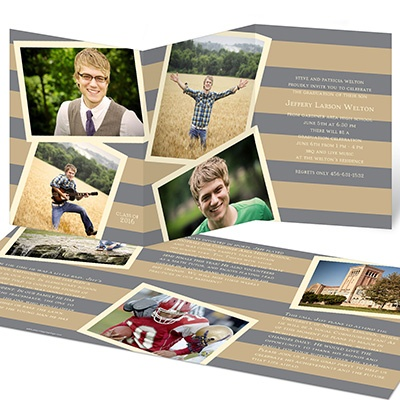 Photo Storybook Tri-Fold Graduation Announcements