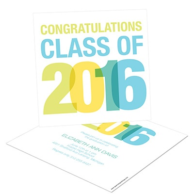 Stacked Success Graduation Announcements