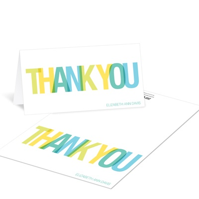 Stacked Success Graduation Thank You Cards