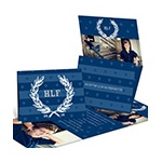 Collegiate Monogram -- High School Graduation Party Invitations
