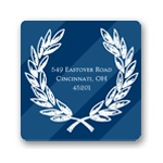 Collegiate Stripes -- Monogram Return Address Labels