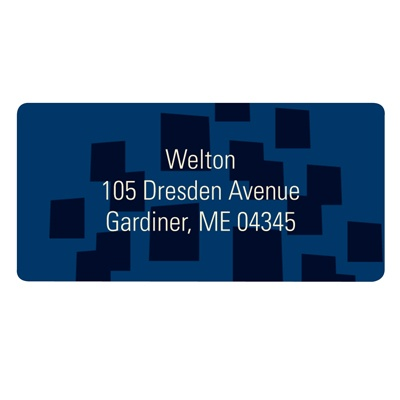 Contemporary Pattern in Blue -- Modern Address Labels
