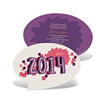 Say It All in Purple -- Custom Graduation Invitations
