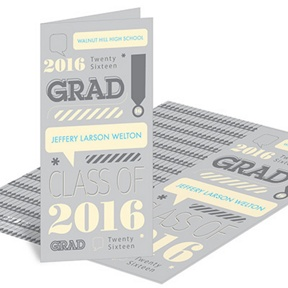 Speech Bubble Style -- Graduation Announcements