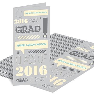 Speech Bubble Style Graduation Announcements