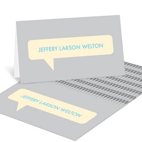 Speech Bubble Style -- Graduation Thank You Cards
