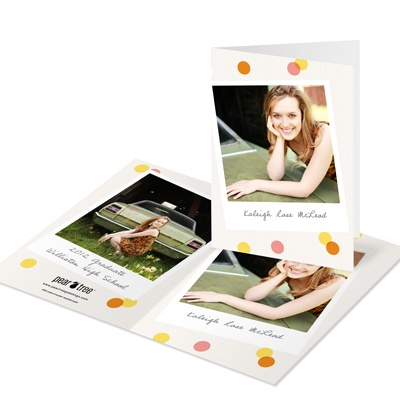 Confetti Snapshots -- Photo Graduation Thank You Cards