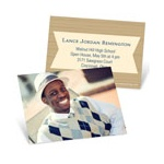 Wood Grain Graduate -- Profile Cards