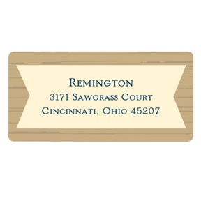 Wood Grain Graduate -- Graduation Address Labels